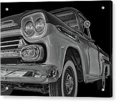 1959 Chevrolet Apache - Bw Acrylic Print