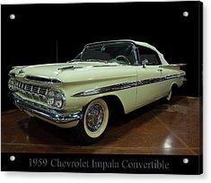 1959 Chevy Impala Convertible Acrylic Print