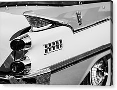 1959 Dodge Coronet Tail Lights -0928bw Acrylic Print by Jill Reger