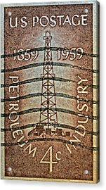 1959 First Oil Well Stamp Acrylic Print
