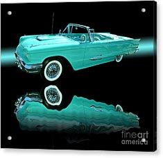 1959 Ford Thunderbird Acrylic Print by Jim Carrell