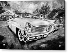 1959 Lincoln Continental Town Car Mk Iv Painted Bw Acrylic Print