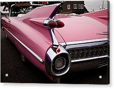 1959 Pink Cadillac Convertible Acrylic Print
