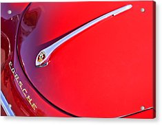 1959 Porsche 1600 Cabriolet Hood Ornament Acrylic Print by Jill Reger