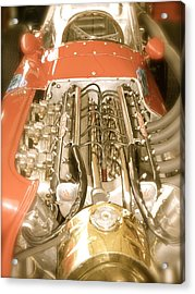 1959 Tecnia Meccanica Maserati 250f Engine Detail Acrylic Print by John Colley