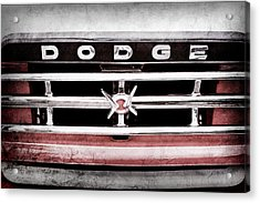 1960 Dodge Truck Grille Emblem -0275ac Acrylic Print