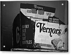 1960's Vernors Box. No Deposit, No Rerurn  Acrylic Print by Sandra Church