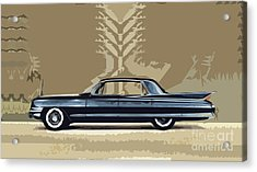 1961 Cadillac Fleetwood Sixty-special Acrylic Print
