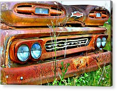 1961 Chevrolet Apache 10 2 Acrylic Print by Lisa Wooten