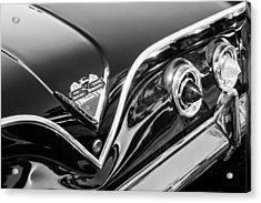 1961 Chevrolet Bel Air Impala Ss Bubble Top Tail Light Emblem -0249bw Acrylic Print by Jill Reger