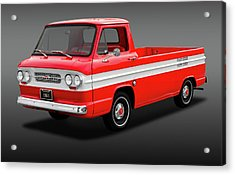 Acrylic Print featuring the photograph 1961 Chevrolet Corvair Rampside Truck  -  1961chevcorvairrampsidefa172180 by Frank J Benz