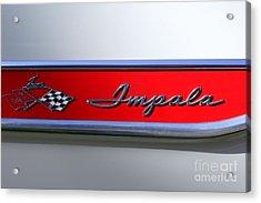 1961 Chevrolet Impala Emblem Acrylic Print