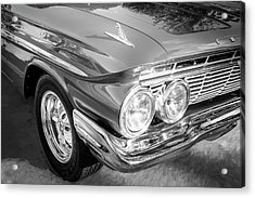 Acrylic Print featuring the photograph 1961 Chevrolet Impala Ss Bw by Rich Franco