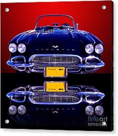 1961 Chevy Corvette Acrylic Print by Jim Carrell