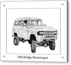 1962 Dodge Powerwagon Acrylic Print by Jack Pumphrey