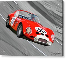 1962 Ferrari 250 Gto Acrylic Print by Wally Hampton