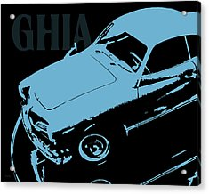 1962 Karmann Ghia Pop Art Blue Acrylic Print