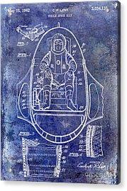 1962 Mobile Space Suit Patent Blue Acrylic Print by Jon Neidert