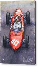 1962 Monaco Gp Willy Mairesse Ferrari 156 Sharknose Acrylic Print