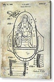 1962 Space Suit Patent Acrylic Print by Jon Neidert