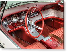 1962 Thunderbird Dash Acrylic Print by Jerry Fornarotto