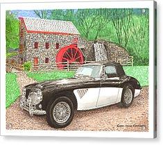 1963 Austin And Sudbury Mill Acrylic Print by Jack Pumphrey