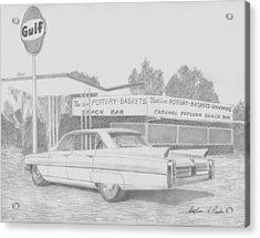 1963 Cadillac Series 62 Classic Car Art Print Acrylic Print