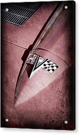 1963 Chevrolet Corvette Split Window Emblem -0400ac Acrylic Print by Jill Reger