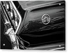 1963 Chevrolet Impala Ss Black And White Acrylic Print