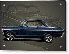 1963 Chevy II Nova Acrylic Print by Tim McCullough