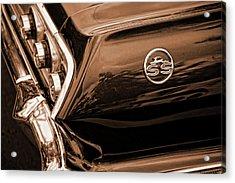 1963 Chevy Impala Ss Sepia Acrylic Print by Gordon Dean II