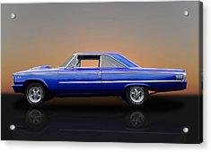 1963 Ford Galaxie 500 - 406 Tri-power Acrylic Print
