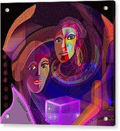 Acrylic Print featuring the digital art 1963 - Pandoras Magic Box 2017 by Irmgard Schoendorf Welch
