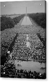 1963 March On Washington, At The Height Acrylic Print