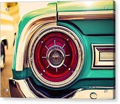 1964 Ford Galaxie 500 Xl Tail Light Acrylic Print by Jon Woodhams