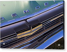 1964 Oldsmobile Jetstar Hood Ornament Acrylic Print by Nick Gray
