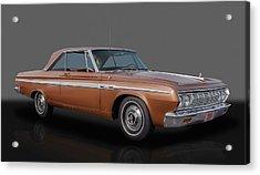 1964 Plymouth Sport Fury - 383 4-speed Acrylic Print by Frank J Benz