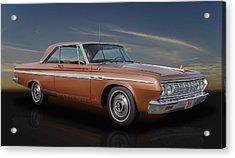 1964 Plymouth Sport Fury Acrylic Print by Frank J Benz