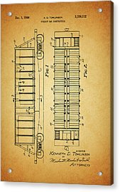 1964 Railroad Car Patent Acrylic Print by Dan Sproul