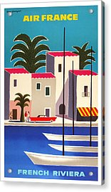 1965 Air France French Riviera Travel Poster Acrylic Print