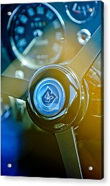 1965 Aston Martin Db5 Coupe Rhd Steering Wheel Acrylic Print by Jill Reger