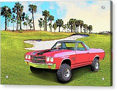 1970 Chevy El Camino 4x4 Not 2nd Generation 1964-1967 Acrylic Print