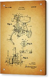 1965 Exercise Machine Patent Acrylic Print by Dan Sproul