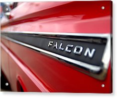 1965 Ford Falcon Name Plate Acrylic Print by Brian Harig