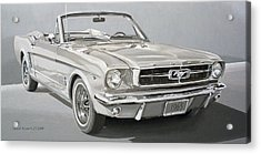 1965 Ford Mustang Acrylic Print by Daniel Storm