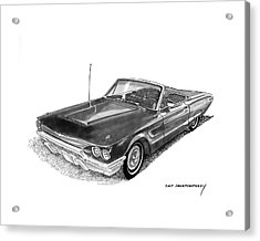 1965 Thunderbird Convertible By Ford Acrylic Print by Jack Pumphrey