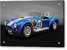 Acrylic Print featuring the photograph 1966 427 Shelby Cobra  -  1966shelby427cobragry170660 by Frank J Benz