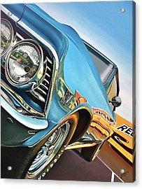 1966 Chevelle Acrylic Print by Branden Hochstetler
