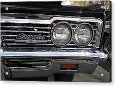 1966 Chevy Impala Chrome Acrylic Print