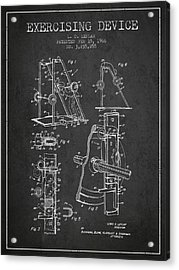 1966 Exercising Device Patent Spbb05_cg Acrylic Print